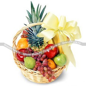 Abundance - a basket of juicy fruits